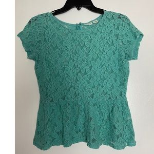 Cato green Lace medium Blouse see through